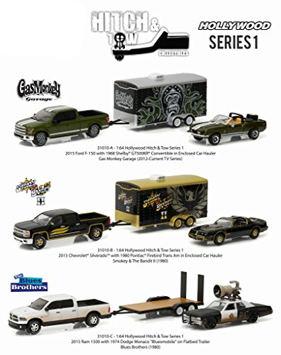 Greenlight 31010SET Hollywood Hitch & Tow Series 1 Set of 3 1/64 Diecast Model Cars