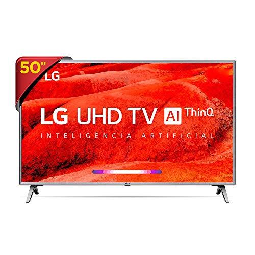 "Smart TV 4K LG LED 50"", Ultra Surround Sound, TV WebOS 4.5, Upscaler 4K, HDR Ativo e Wi-Fi - 50UM7500PSB"