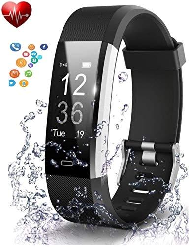 deputine ID115 Series 4 Smart Wristband Heart Rate Monitor with 0. 96...