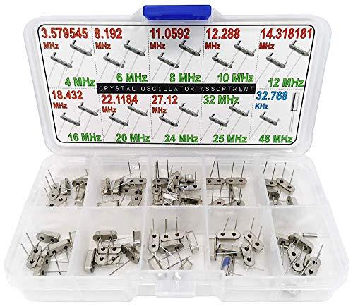 XL Crystal Oscillator Assortment Box, 65 pcs All 20 Types, 3 to 48 MHz