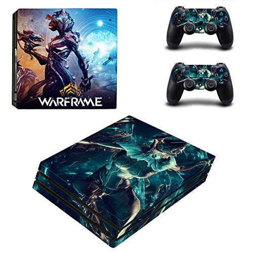TSWEET Warframe Style Ps4 Pro Skin Sticker for Playstation 4 Pro Console & 2 Controllers Decal Vinyl Protective Skins