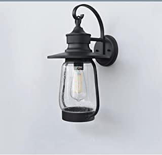 Sconce/Wall Sconces Waterproof Outdoor Wall Sconce Light Fixtures Exterior Wall Outside House Lamps Black Metal with Clear...
