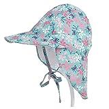 Lazz1on Baby Sonnenhut mit Nackenschutz UV Schutz UPF50+ Jungen Mädchen Sommer Strandhut für Angeln Reise Schwimmbad Outdoor Ausflug Hut