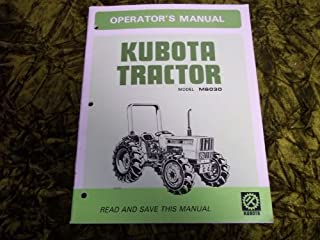 Kubota Model M6030 OEM OEM Owners's Manual