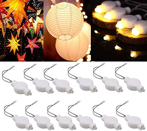 LOGUIDE LED Lantern Lights, 24 Pack Battery Powered Small LED Lights for Paper Lanterns,Balloons,Floral,Weddings & Festival Decorations (Warm White)