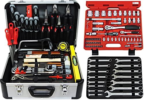 Famex Werkzeug Werkzeugkoffer, 720-21 Mechaniker Alukoffer-mit Steckschlüsselsatz