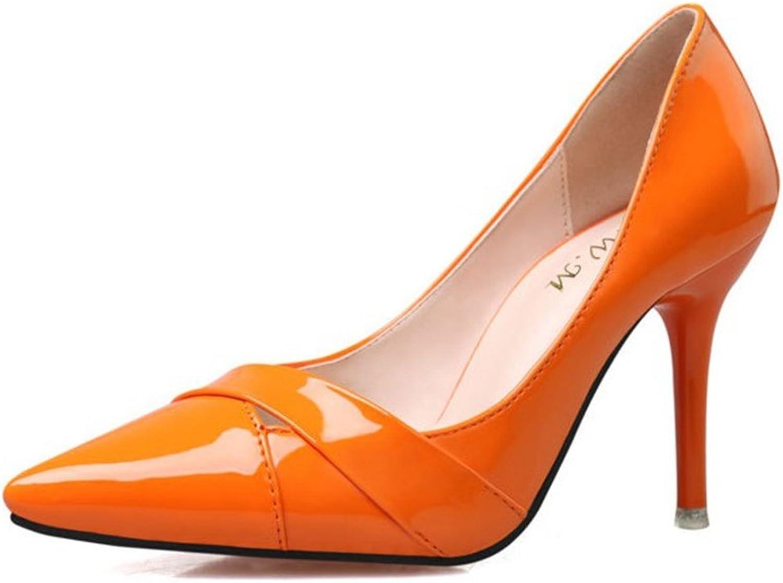 CYBLING Fashion Pointed Toe Women Stiletto Heels Dress Pumps