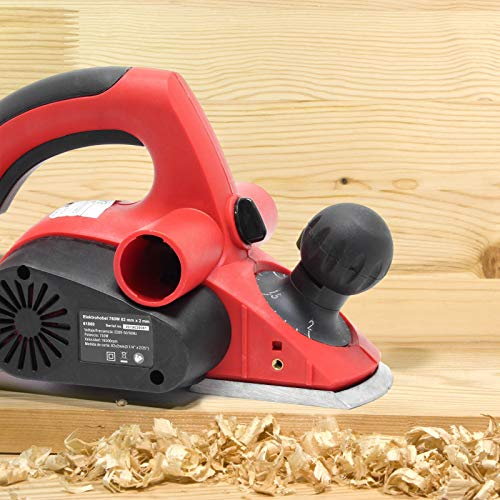 Cepillo de carpintero eléctrico 750W 82 mm x 2 mm Garlopa eléctrica...
