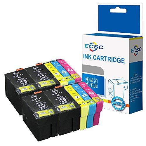 ECSC Compatibile Inchiostro Cartuccia Sostituzione per Epson WorkForce WF-3620 WF-3620DWF WF-3640DTWF WF-7110DTW WF-7210DTW WF-7610DWF WF-7620DTWF WF-7620TWF WF-7710DWF (BK/C/M/Y, 10-Pack)