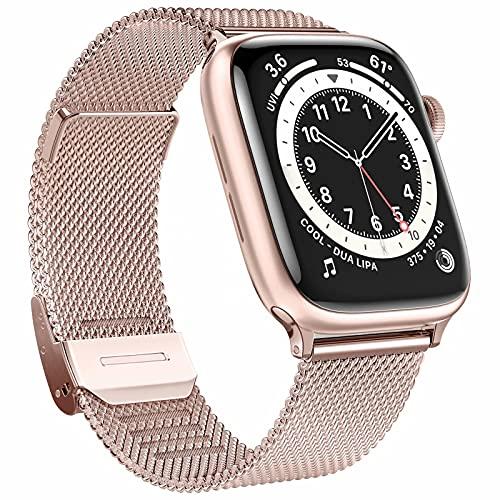 Cinturino di ricambio Fengyiyuda Compatibile per Cinturino Apple Watch 38mm 42mm 40mm 44mm, Cinturino in Metallo in Acciaio Inossidabile con Fibbia Regolabile per IWatch Series SE 6 5 4 3 2 1