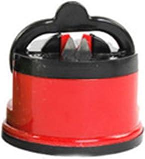 ngzhongtu Mini Afilador de Cuchillos multifunción portátil Tijeras Amoladora Herramienta de Afilado de Cocina de Chef de succión Segura - Rojo