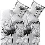 aqua-textil Trend Bettwäsche 135 x 200 cm 4teilig Baumwolle Bettbezug