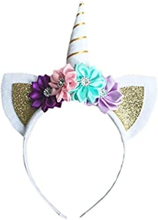 Geyou Baby Girls Party Headbands Decorative Flower Hairband Cute Kids Headwear