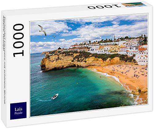 Lais Puzzle Villaggio di Pescatori Carvoeiro con Bella Spiaggia, Algarve, Portogallo 1000 Pezzi