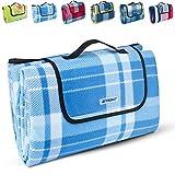 TRESKO XXL 200 x 200 cm Picknickdecke Acryl Wasserdicht   Campingdecke für Outdoor mit Tragegriff   Wärmeisoliert & Weich PNDKE41
