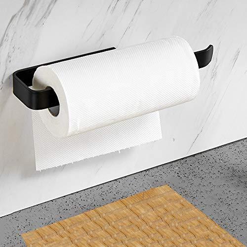 NC56 Küchenrollenhalter ohne Bohren, Küchenpapierhalter Wandmontage, Papierrollenhalter aus Aluminium, Küchenrollenspender Küchenrollen Halter Aufbewahrung Organisator