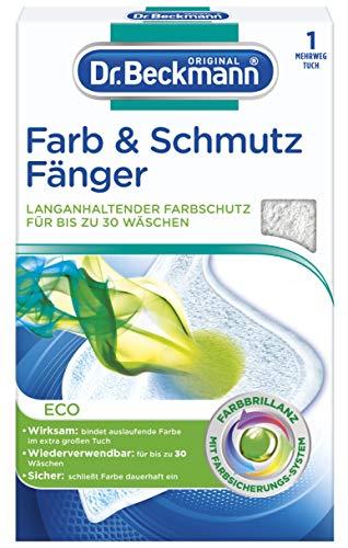 Dr. Beckmann Farb & Schmutzfänger Mehrwegtuch | langanhaltender Farbschutz für bis zu 30 Wäschen | wiederverwendbares Tuch | 1er Pack (1x 1 Stück)