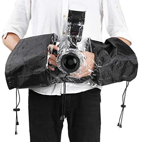 FOLOSAFENAR con la ubicación del Flash Superior de la cámara Adopción de Material plástico Transparente Accesorios de fotografía Cubierta Impermeable para la Lluvia, para cámara DSLR Universal