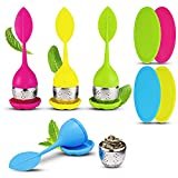uxtansi Infuseur Boule thé Silicone INOX infuseur a thé, ustensile Filtre...