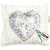 HERBALIND Lavendelkissen zum Schlafen Motiv Herz - Schlafkissen 20x25cm gefüllt mit getrockneten...