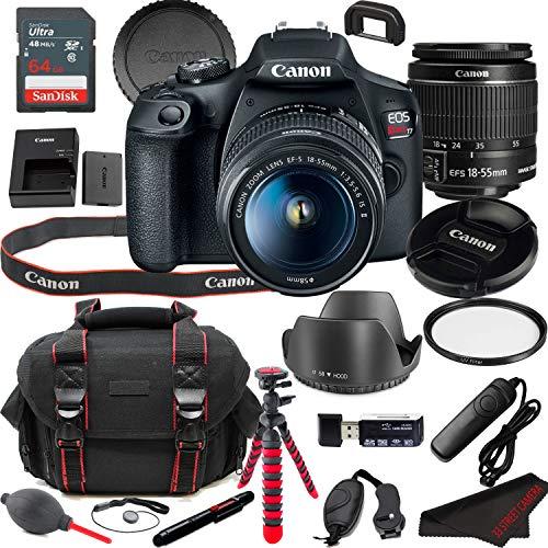 EOS Rebel T7 DSLR Camera Bundle + 18-55mm Lens | Built-in Wi-Fi|24.1 MP CMOS Sensor |DIGIC 4+ Image Processor and Full HD Videos + 64GB Memory (19pcs)