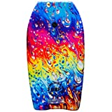 Back Bay Play 37' Body Board - Body Boards with EPS Core & Wrist Leash, Body Boards for Beach, Beach Accessories for Adults & Kids Outdoor Toys (Lava Lamp)