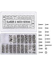 1000 piezas Micro tornillos de acero inoxidable Tuercas para reparar bicicleta gafas de Gafas Reloj