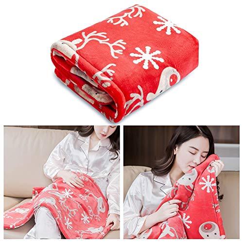 USB Travel Electric Blanket, Warming Soothing Lap Cape - Manta calefactora con Cremallera - Portátil para avión/automóvil/Camping