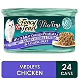 Purina Fancy Feast Gravy Wet Cat Food, Medleys White Meat Chicken Primavera - (24) 3 oz. Cans