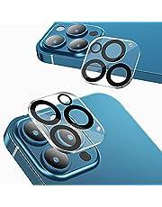 NIMASO カメラフィルム iPhone13pro / iphone 13 Pro Max 用 カメラ レンズ 保護カバー 全面保護 黒縁取り 露出オーバー防止 2枚セット NCM21H312