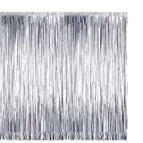 Artlink Tinsel Foil Fringe Curtains 2pcs 3.2ft x 8.2ft Metallic Tinsel Curtains Backdrop for Birthday,Wedding,Christmas,Halloween,New Year,Photo Booth Props Celebration Party Decoration-Silver