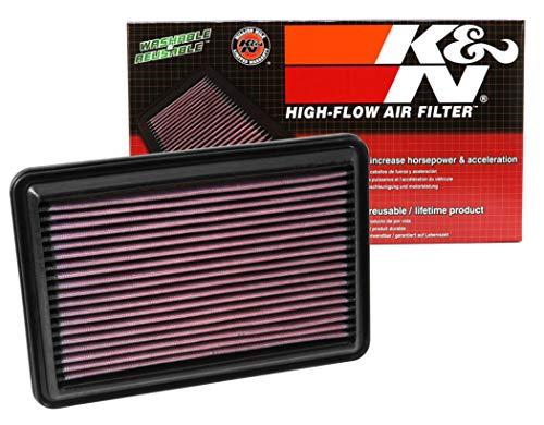 K&N 33-5016 Motorluftfilter: Hochleistung, Prämie, Abwaschbar, Ersatzfilter, Erhöhte Leistung, 2014-2019 (Rogue, Qashqai, X-Trail, Kadjar, Koleos, QM6)