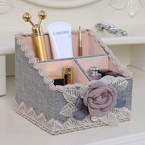 ChenCheng Kosmetische Aufbewahrungsbox - MDF + Baumwollmaterial, leicht und einfach zu tragen, stilvoll und einfach, Lippenstift Kosmetik Hautpflege Fernbedienung Schlafzimmer Wohnzimmer Balkon Schmin