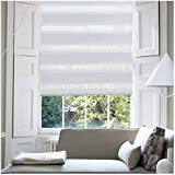 KELIXU Horizontal Window Shade Blind Zebra Dual Roller Blinds Day and Night Blinds