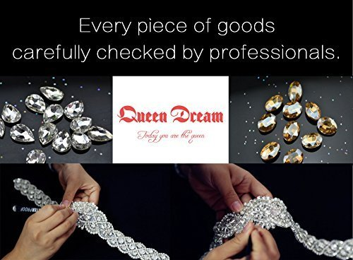 Crystal Applique Rhinestone Applique Wedding Applique Beaded Crystal Patch DIY Wedding sash Headband Headpiece