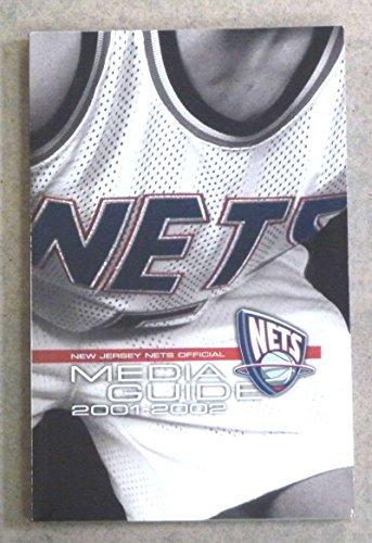 NEW JERSEY NETS NBA BASKETBALL MEDIA GUIDE - 2001 2002 - NEAR MINT