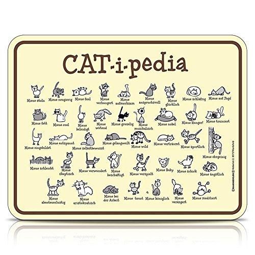 Blechschild Schild Fun Schild - Cat-i-pedia - 22 x 17 cm