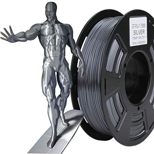 Stronghero3D desktop fdm 3d stampante filament pla grigio metallizzato 1.75 mm 1 kg (2.2 lbs) precisione delle dimensioni di +/-0.05 mm
