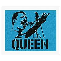 フレディマーキュリー クイーン Queen-Freddie MercuryDIY 数字油絵 キャンバスの油絵 手塗り 57* 47 cm 絵画 大人の子供のためのギフト 数字キットでペイント インテリア アートフレーム ホームデコレーション