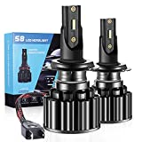 Bombilla H7 LED, 16000LM 6500 K, faros para coche y moto, bombillas de repuesto para bombillas halógenas y kit de xenón, 2 bombillas