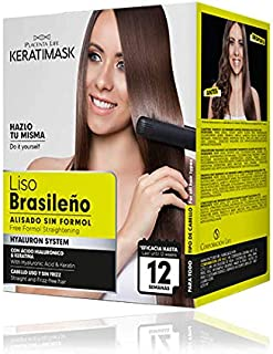 Be Natural - Kit Alisado Brasileño Keratimask - resultado