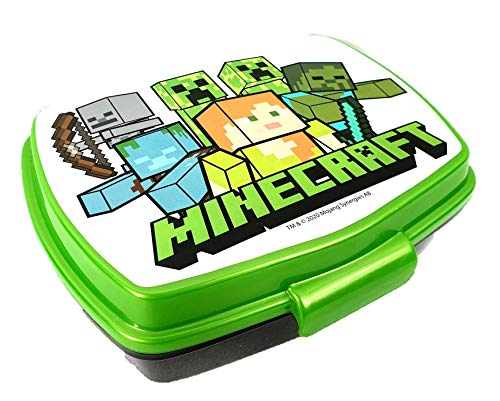 Javoli Passend zu Minecraft: Creeper Steve Brotdose Lunchbox