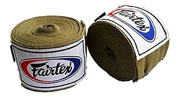 Fairtex Muay Thai Boxing Elastic Cotton Handwraps HW2 Hand Wraps Color Army Khaki used in Muay Thai Boxing Kickboxing MMA