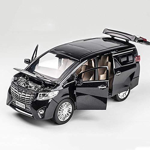Vehículos de fricción Versión de aleación de la furgoneta Modelo Negro 1:24...