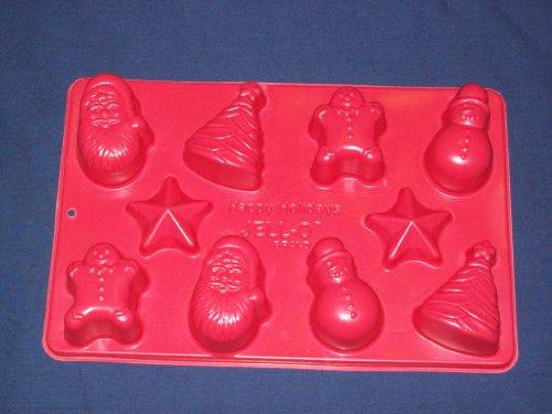 Happy Holidays Christmas Jell-O Jiggler Mold