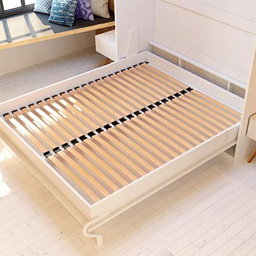 Schrankbett 160×200 weiss mit Gasdruckfedern, ideal als Gästebett – Wandbett, Schrank mit integriertem Klappbett, SMARTBett - 7