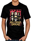 Official Hollywood Undead Day of The Dead Faces T-Shirt Black