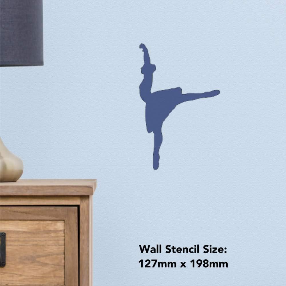 Azeeda Grand A2 Silhouette de Ballet Pochoir Mural WS00024997