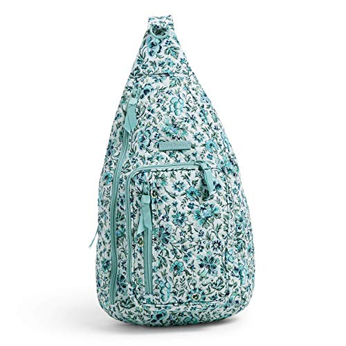 Vera Bradley Women's Iconic Signature Cotton Mini Sling Backpack, Cloud Vine, One Size