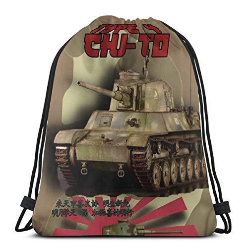Chi-to Tank Sport Sackpack Mochila con cordón para gimnasio